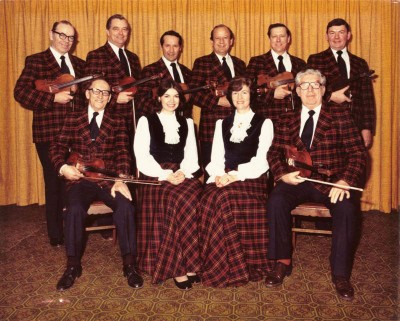The Glengarry Strathspey and Reel Society in their early days